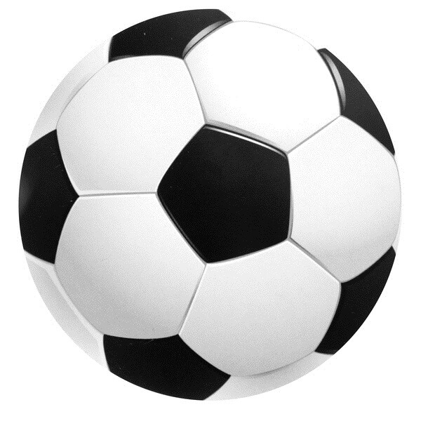 Dessous de verre ballon de football