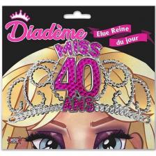 Cadeau pour fête anniversaire avec diadème 40 ans rose fuchsia (x1) REF/DM04F