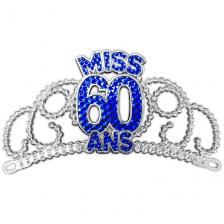 Diadème anniversaire 60ans bleu pour cadeau (x1) REF/DM06B