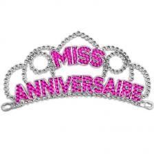 Diadème fuchsia miss anniversaire pour cadeau (x1) REF/DM00F