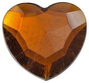 Diamant coeur chocolat (x12) REF/3349