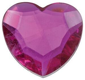 Diamant coeur fuchsia