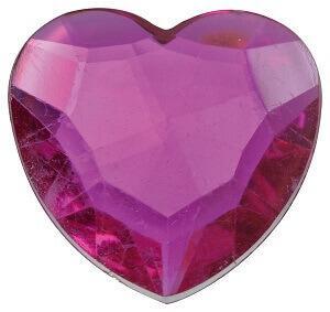 Diamant coeur fuchsia (x12) REF/3349