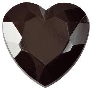 Diamant coeur noir (x12) REF/3349