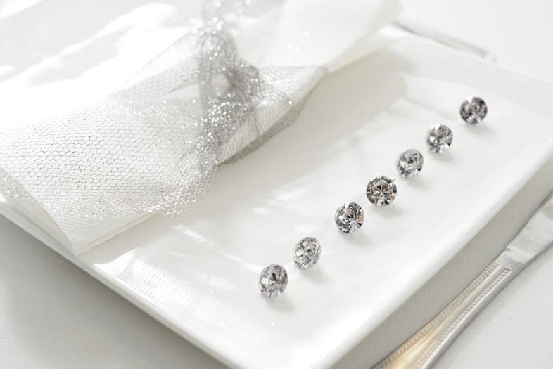 Diamant decoratif transparent