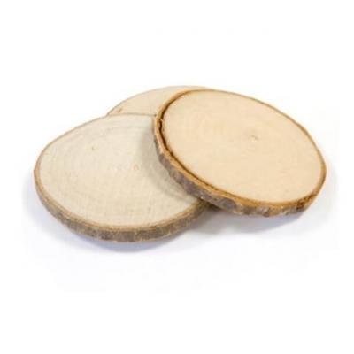 Disque en bois naturel 5,5cm (x4) REF/DEC367