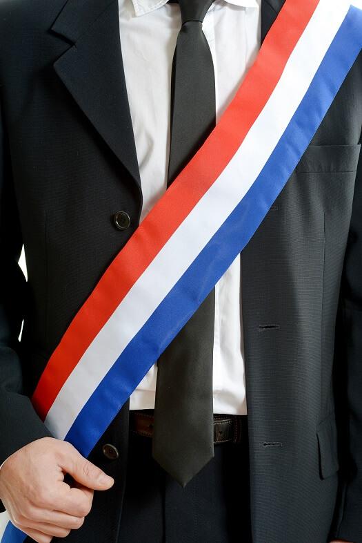 Echarpe du maire tricolore france