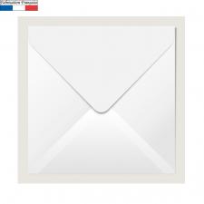 Enveloppe blanche carrée 16.5cm (x20) REF/5433C