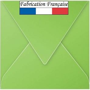 Enveloppe verte carrée 16.5cm (x20) REF/5543
