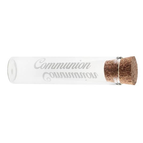Eprouvette transparente communion en verre
