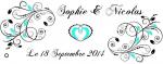 Étiquette à dragées: Arabesque (x10) REF/10101