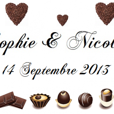 Étiquette à dragées chocolat (x10) REF/10137