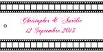 Étiquette à dragées cinéma: Action (x10) REF/10112