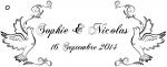 Étiquette à dragées colombe (x10) REF/10154