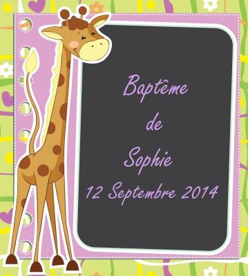 Étiquette à dragées: Girafe (x10) REF/10098