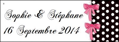 Étiquette à dragées: Glamour (x10) REF/10110