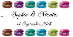 Étiquette à dragées macaron (x10) REF/10135