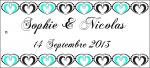 Étiquette à dragées mariage: Heart (x10) REF/10106