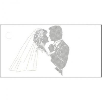 Étiquette mariage: Couple de mariés (x10) REF/CTM08092