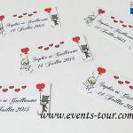 Étiquette à dragées mariage: Cartoon (x10) REF/10109