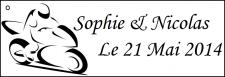 Étiquette à dragées moto (x10) REF/10157
