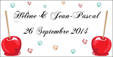 Étiquette à dragées pomme d'amour (x10) REF/10138