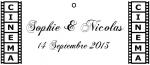 Étiquette à dragées cinéma: Moteur (x10) REF/10114
