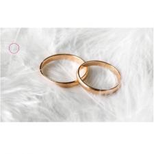 Étiquette mariage: Alliances et plumes (x10) REF/CTM08572