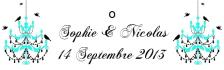 Étiquette à dragées: Baroque (x10) REF/10105
