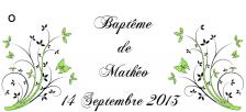 Étiquette à dragées papillon: Aurore (x10) REF/10127