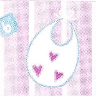 Étiquette baptême: Bavoir fille (x10) REF/CTB08051