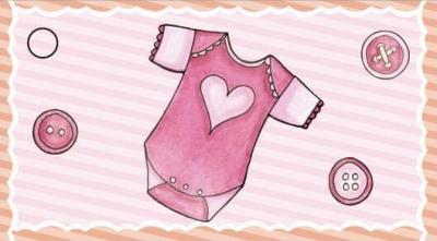 Étiquette baptême: Vêtement fille (x10) REF/CTB08121