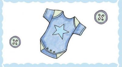 Étiquette baptême: Vêtement garçon (x10) REF/CTB08125