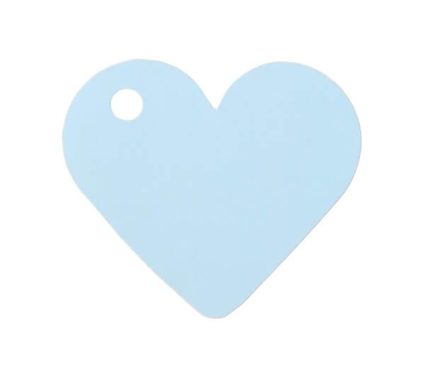 Etiquette bleu ciel coeur