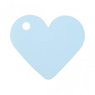 Étiquette bleu ciel coeur (x10) REF/2987