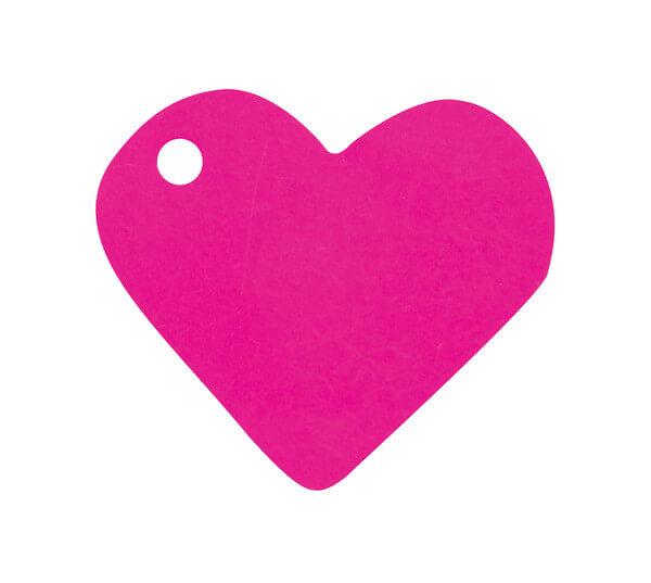 Etiquette fuchsia coeur