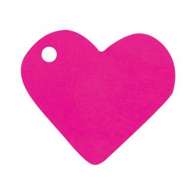 Étiquette fuchsia coeur (x10) REF/2987