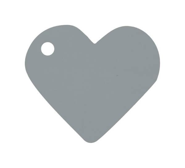 Etiquette grise coeur