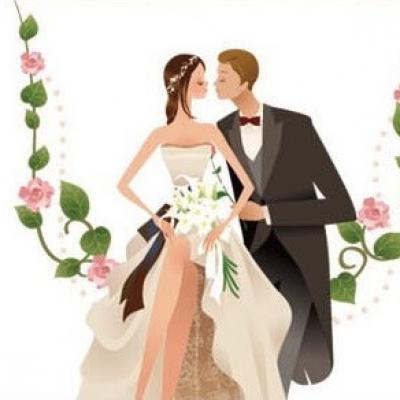Étiquette mariage: Mariés vintage (x10) REF/CTM08560
