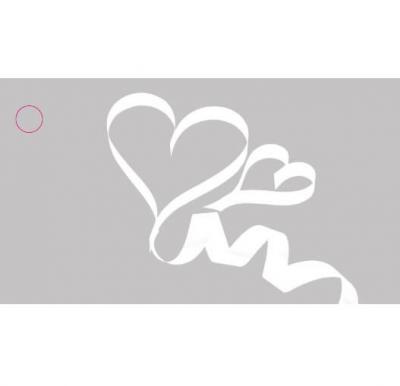 Étiquette mariage: Coeur ruban (x10) REF/CTM08565