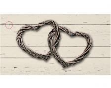 Étiquette mariage: Coeur romantique (x10) REF/CTM08569
