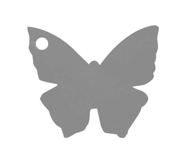 Etiquette papillon grise