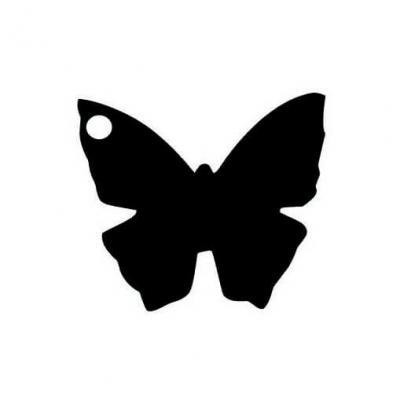 Étiquette papillon noire (x10) REF/2988