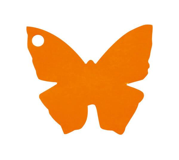 Etiquette papillon orange