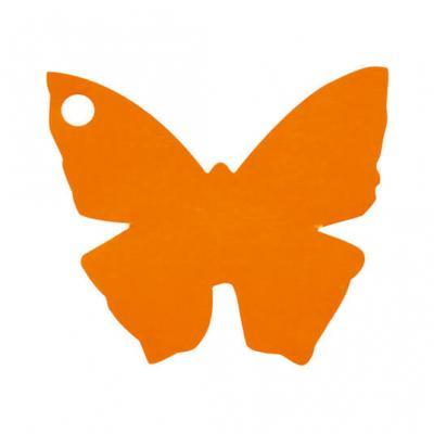 Étiquette papillon orange (x10) REF/2988