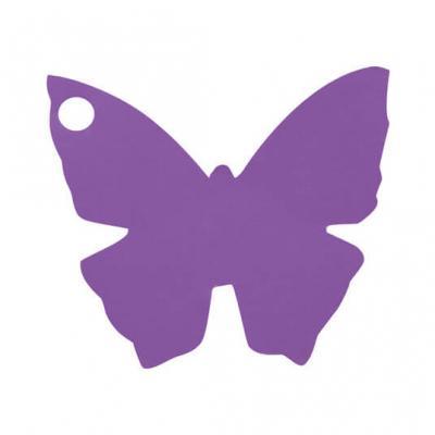 Étiquette papillon prune (x10) REF/2988