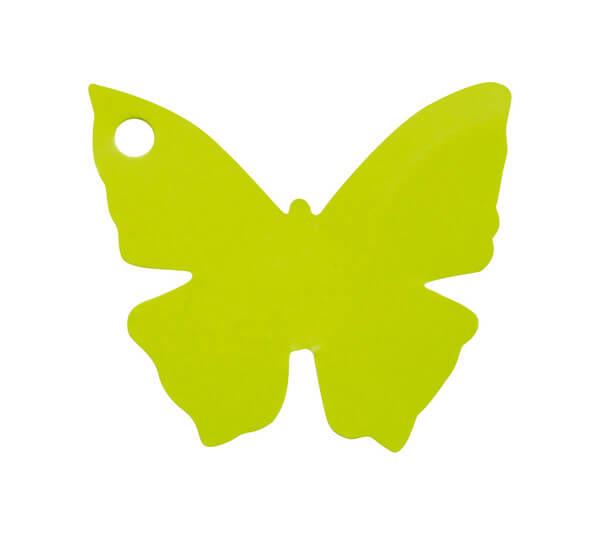 Etiquette papillon verte