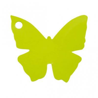 Étiquette papillon verte (x10) REF/2988