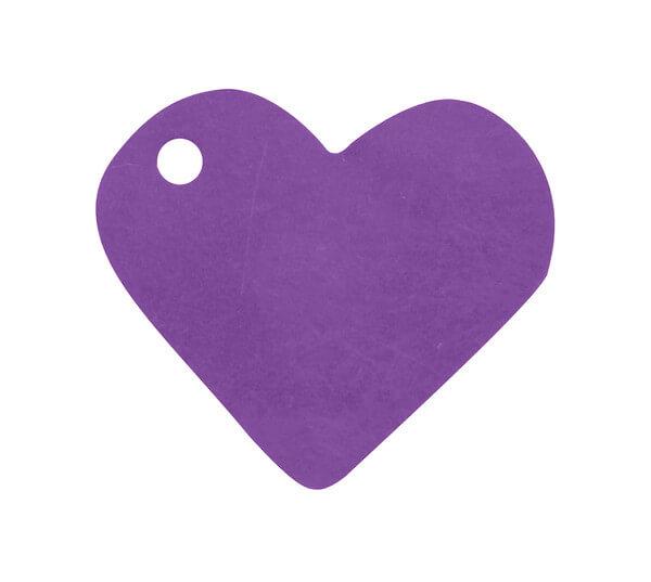 Etiquette prune coeur