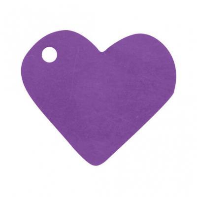 Étiquette prune coeur (x10) REF/2987